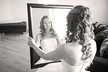Невеста надела свадебное платье до венчания