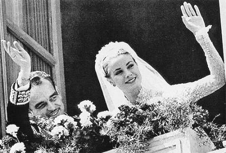 Грейс Келли и принц Монако Ренье ІІІ