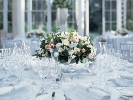 Классическая свадьба - оформление столов