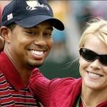 Блестящий игрок в гольф Тайгер Вудс женился на Элен Нордегрен в октябре 2004.
