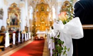 Оформление церкви для венчания