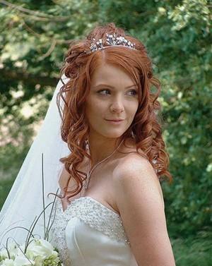 Свадебная прическа - русалочка
