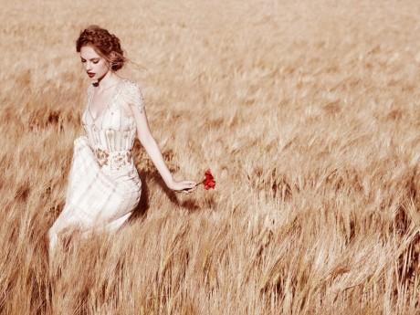 свадебное платье - модный цвет