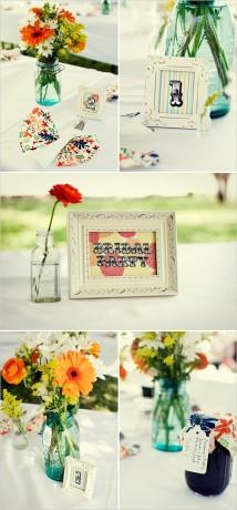 Украшения свадебного стола