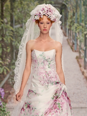 Акцент на плечи невесты