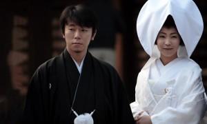 Белое кимоно японской невесты
