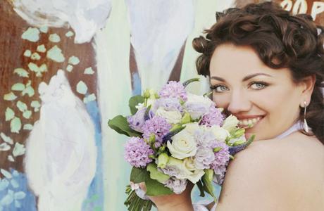 Букет под цвет глаз невесты