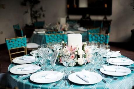 Декор на свадебных столах