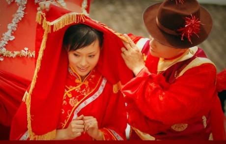 Китайская свадьба - наряды молодых