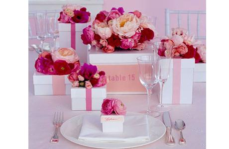 Красный и розовый в оформлении свадьбы