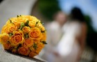 Круглый букет на свадьбу