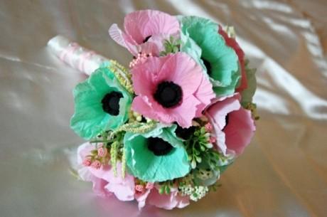 Модные бумажные цветы на свадьбу