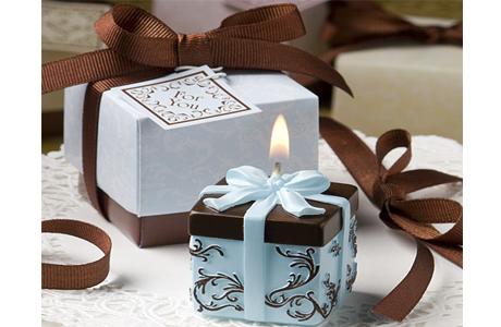 Синий и коричневый в декоре свадьбы
