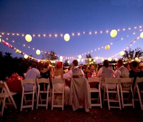 Освещение летней свадьбы