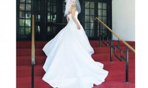 Пристегивающийся шлейф к свадебному платью