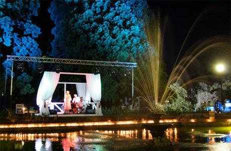 Сцена свадьбы у озера