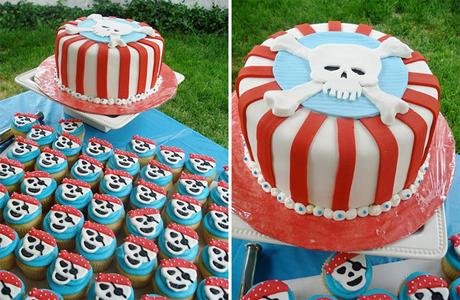 Свадебный торт в стиле пиратов