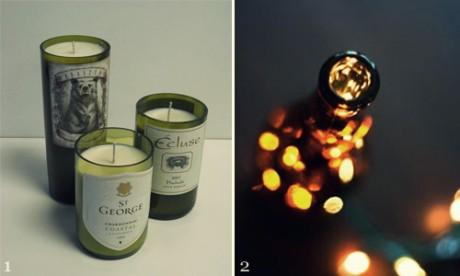 Свечи в бутылках