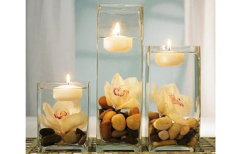 Свечи в воде для свадьбы