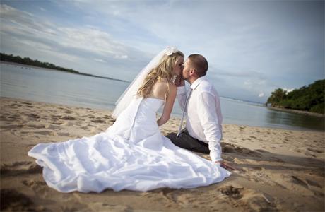 Пляж и церемония