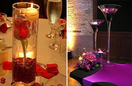 Цветы и свечи на свадьбе