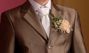 Украшение костюма жениха