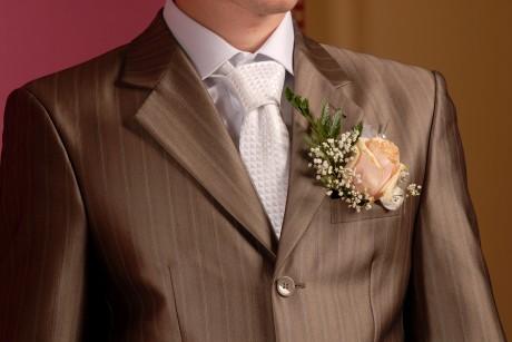 Нагрудный носовой платок для жениха