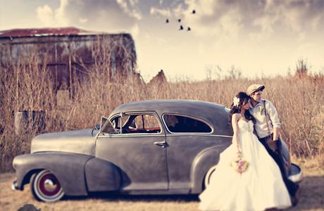 Винтажная свадьба - авто