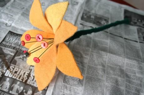 Войлочные цветы - тренд сезона