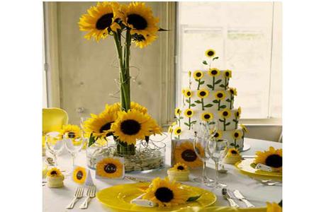 Желтый и зеленый в оформлении свадьбы