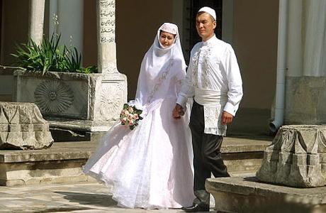 Жених и невеста у татар
