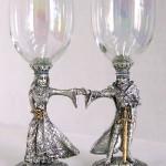 Эти бокалы - для свадьбы в стиле дам и рыцарей