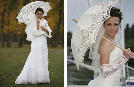 Бумажный зонтик на свадьбу