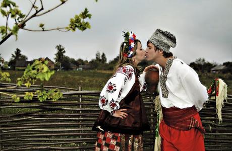 Наряд на украинскую свадьбу