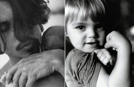 Джонни Депп с ребенком