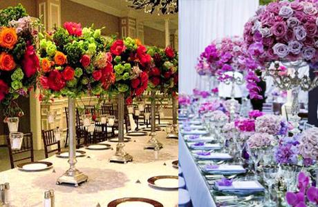 Цветы на свадьбе - варианты