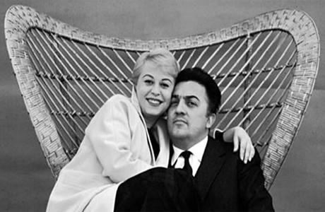 Федерико Феллини и жена Джульетта Мазина