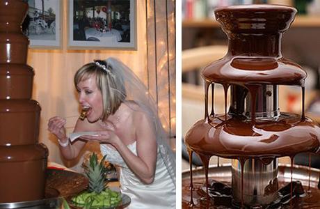 Большой шоколадный фонтан