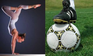 Футболисты и гимнастки