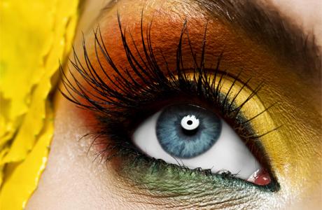 Макияж - тени для голубых глаз