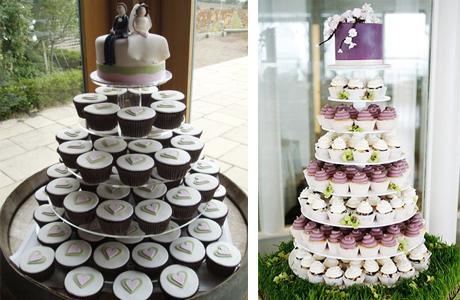 Капкейк торт на свадьбу