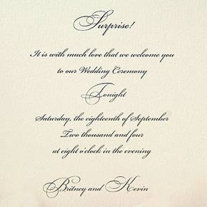 Карточка-сюрприз - приглашение на свадьбу