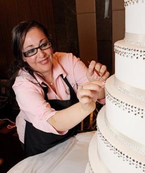 Свадебные торты с кристаллами