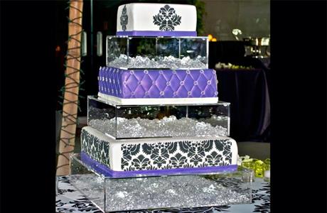 Свадебный торт с орнаментом из дамасской стали