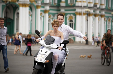 Свадьба на скутере