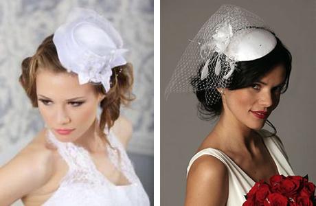 Миниатюрная свадебная шляпка