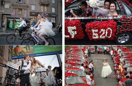 Необычные свадебные кортежи мира