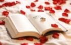Обручальные кольца на страницах книги