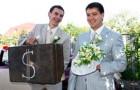 Оригинальный выкуп невесты на торжестве
