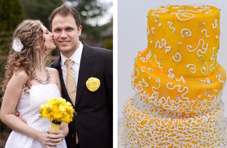 Солнечный желтый для свадьбы